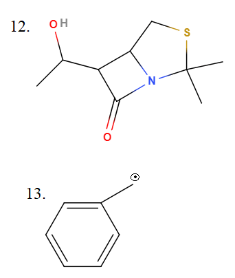 12. Circle and identify the functional groups in the