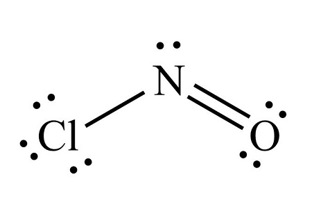 What is the molecular geometry of NOCl? (Nitrogen is the