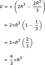 Derivation of Formula for Volume of the Sphere by