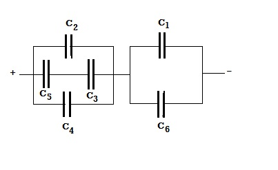 In the figure a 21 V battery is connected across
