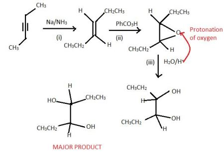 Draw the structure of the product resulting from the