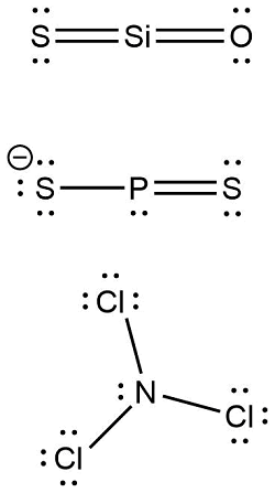 Match each of the following ions or molecules with its