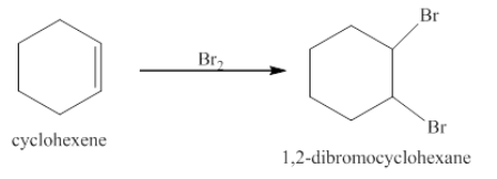 Assume that cyclohexene reacts with a high concentration