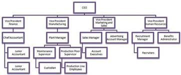 Boutique Hotel Organization Chart