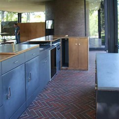 Outside Kitchen Cabinets Metal Carts Philip Johnson's Glass House: Interior & Floor Plan ...