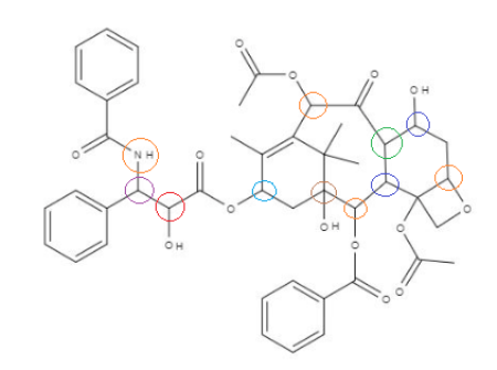 Select al of the chirality centers in the structure