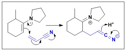 The structure(s) of the major organic product(s) of the