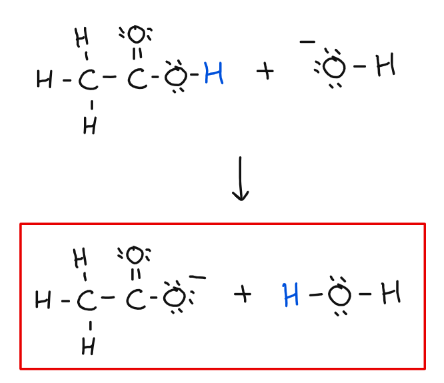 Draw the structures of the products of the neutralization