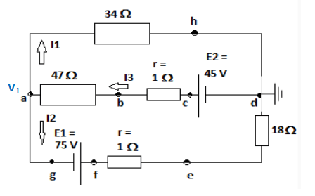 For the circuit shown in the figure below, calculate: a