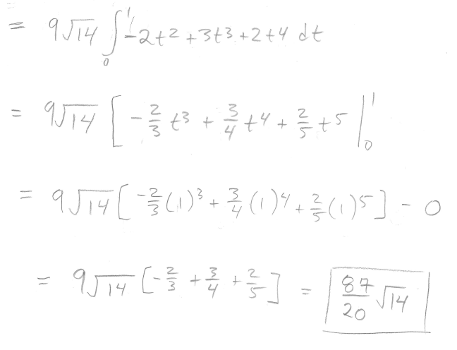 Evaluate the line integral, where C is the given curve