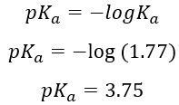 Calculate the percent ionization of formic acid (HCO2H) in