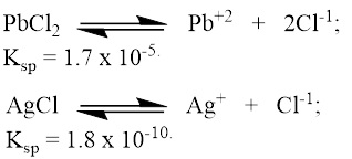The solubility product constant for PbCl_2 is 1.7 * 10^-5
