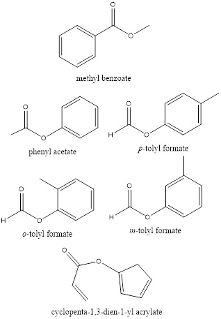 Draw the structures and give the names for the six