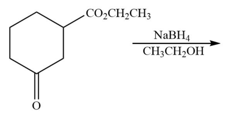 Provide the structure of the major products in the