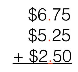Adding & Subtracting Decimals Using Models & Pictures