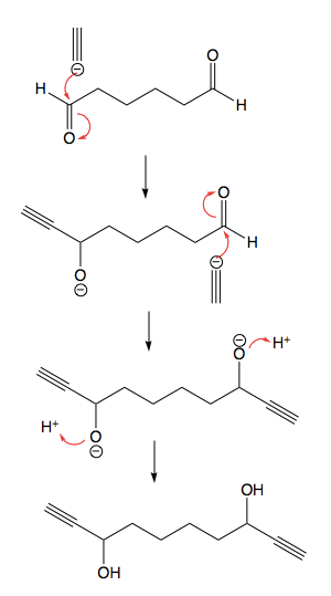 Draw the structure of the aldehyde or ketone that reacts