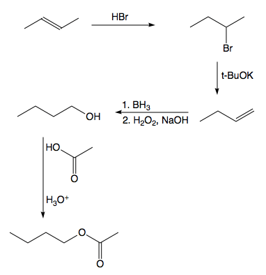 Prepare the following compound using the materials shown