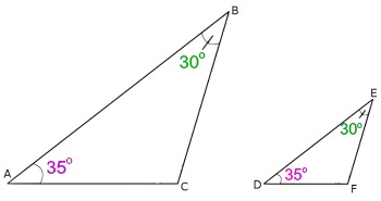 How can the angle angle similarity postulate be used to