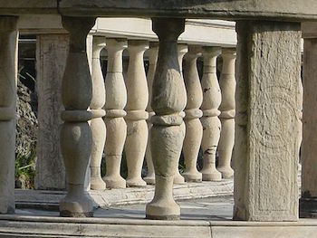 Example of symmetrical balusters from a building in Italy