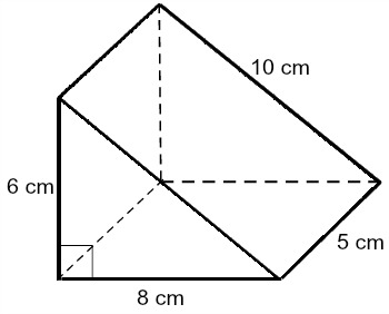 Suppose a triangular prism has a height of 5 cm and a