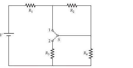In the circuit below, all four resistors are identical (R1