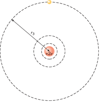 A singly ionized helium atom (He+) has only one electron