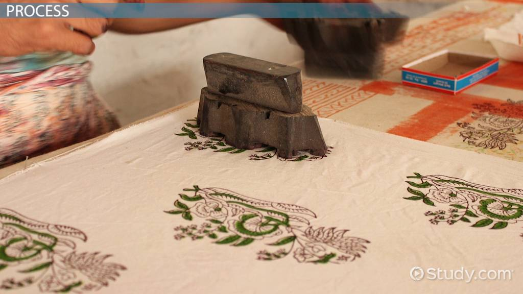 What Is Block Printing In Textiles? Video & Lesson