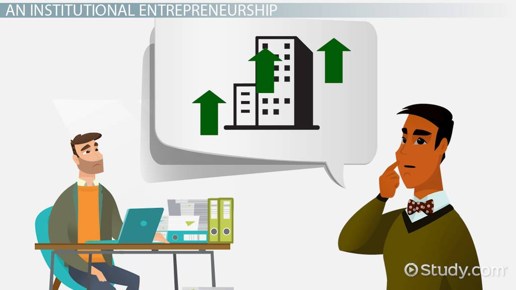 Institutional Entrepreneurship Theory & Examples Video