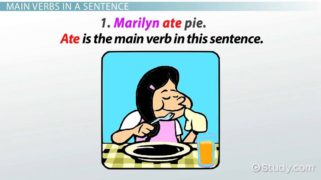What Is A Main Verb? Definition & Examples Video