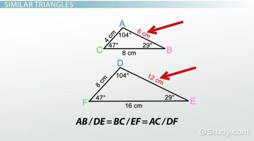 small resolution of AA Similarity Postulate \u0026 Theorem - Video \u0026 Lesson Transcript   Study.com