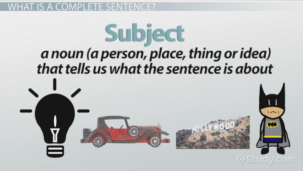 medium resolution of Complete and Incomplete Sentences: Examples \u0026 Overview - Video \u0026 Lesson  Transcript   Study.com