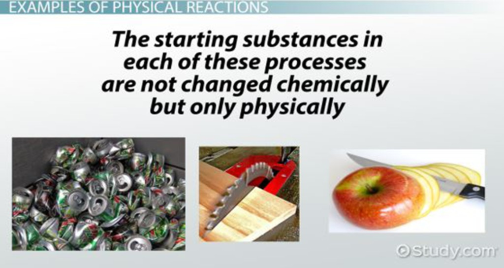 Physical Reaction Definition & Examples Video & Lesson