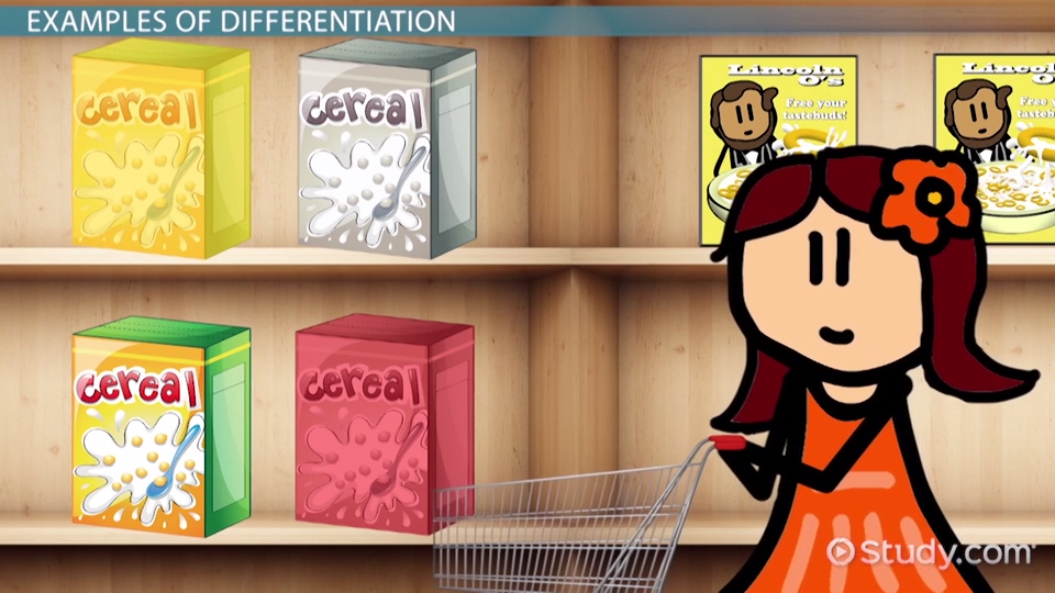 Differentiated Products Definition & Examples Video