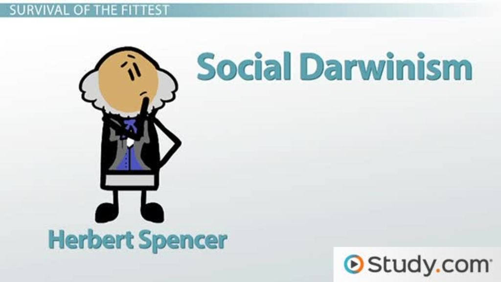 Herbert Spencer Theory & Social Darwinism Video