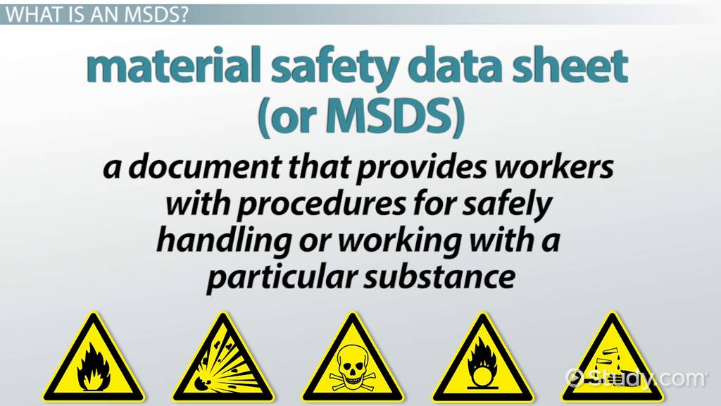 Material Safety Data Sheet MSDS Definition & Purpose