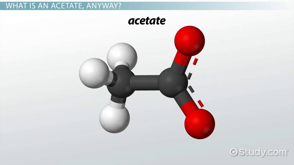 What Is Acetate? Definition Properties & Formula