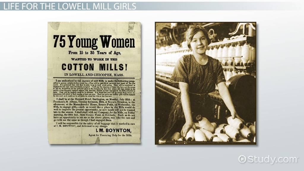 The Lowell Mill Girls Amp Their Working Conditions Video