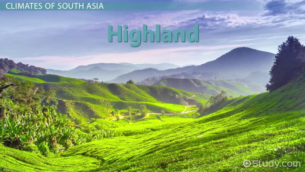 Major Climates Of South Asia Video & Lesson Transcript