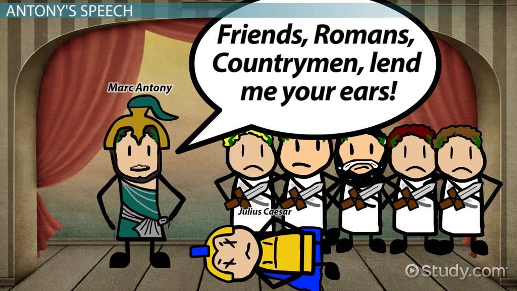 Irony In Julius Caesar's Antony Speech Video & Lesson