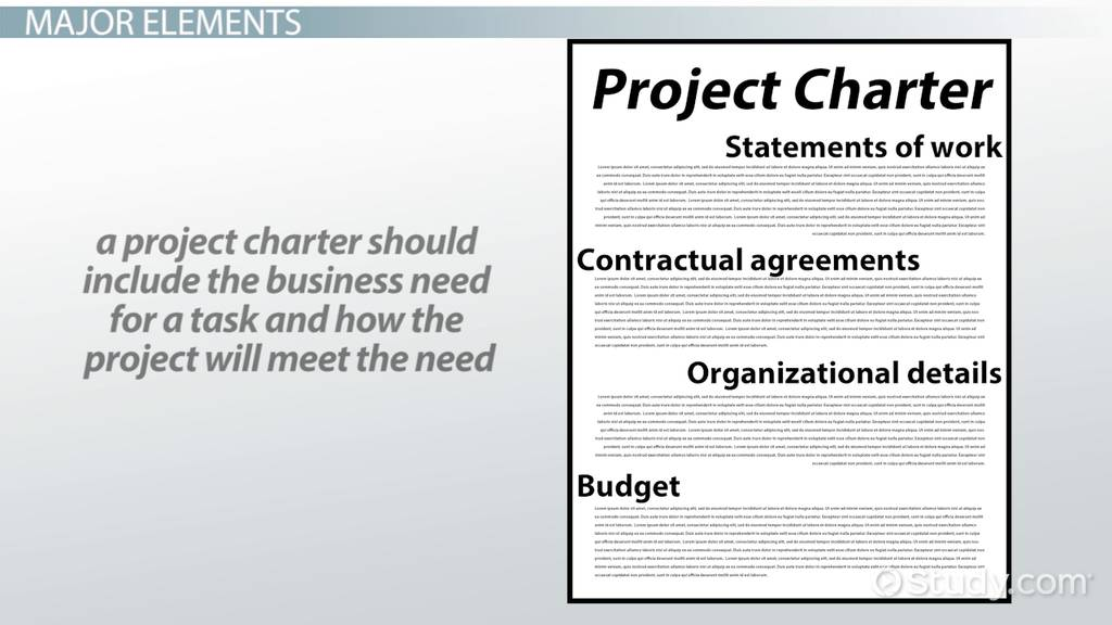What Is A Project Charter? Elements & Example Video