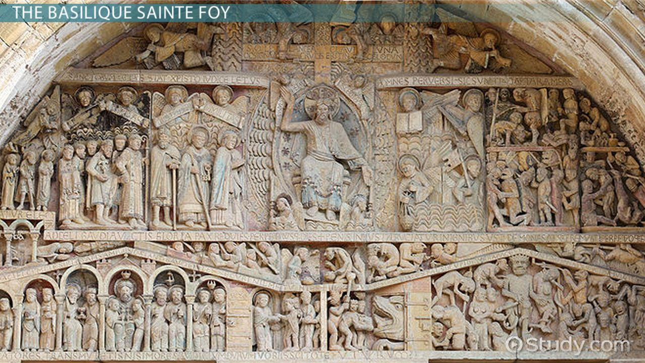 Comparing Romanesque Tympanums Iconography & Function