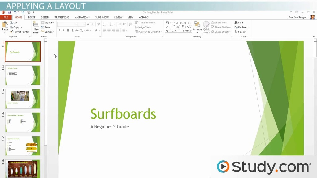 Formatting Your PowerPoint Presentation Using Slide