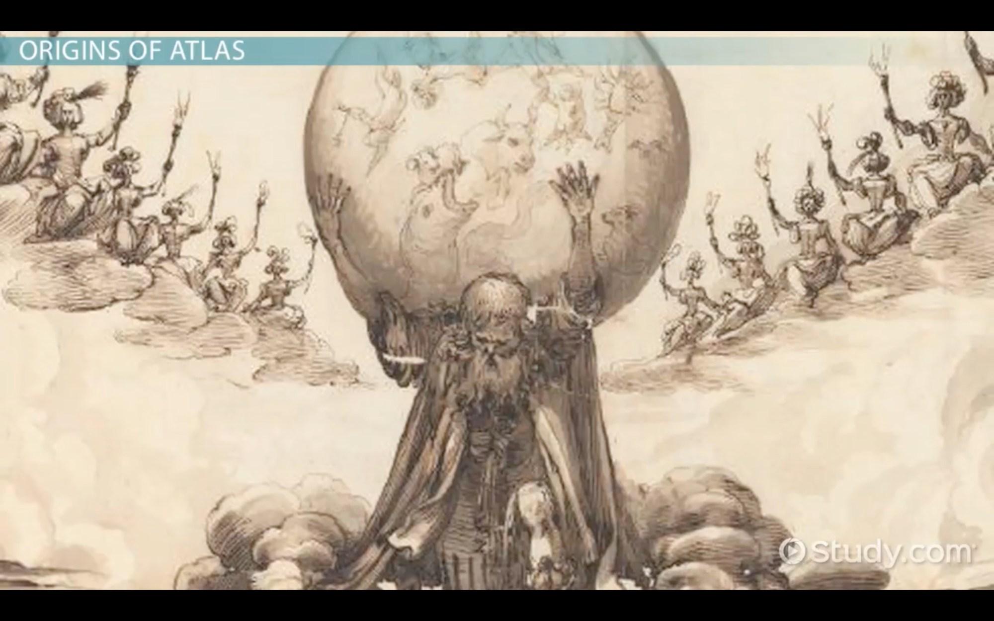 hight resolution of Atlas in Greek Mythology: Story \u0026 Facts - English Class (Video)   Study.com