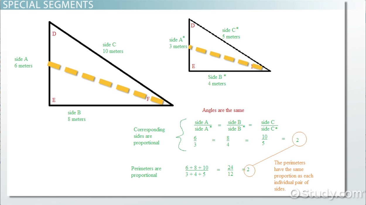 hight resolution of Proportional Relationships in Triangles - Geometry Class (Video)   Study.com