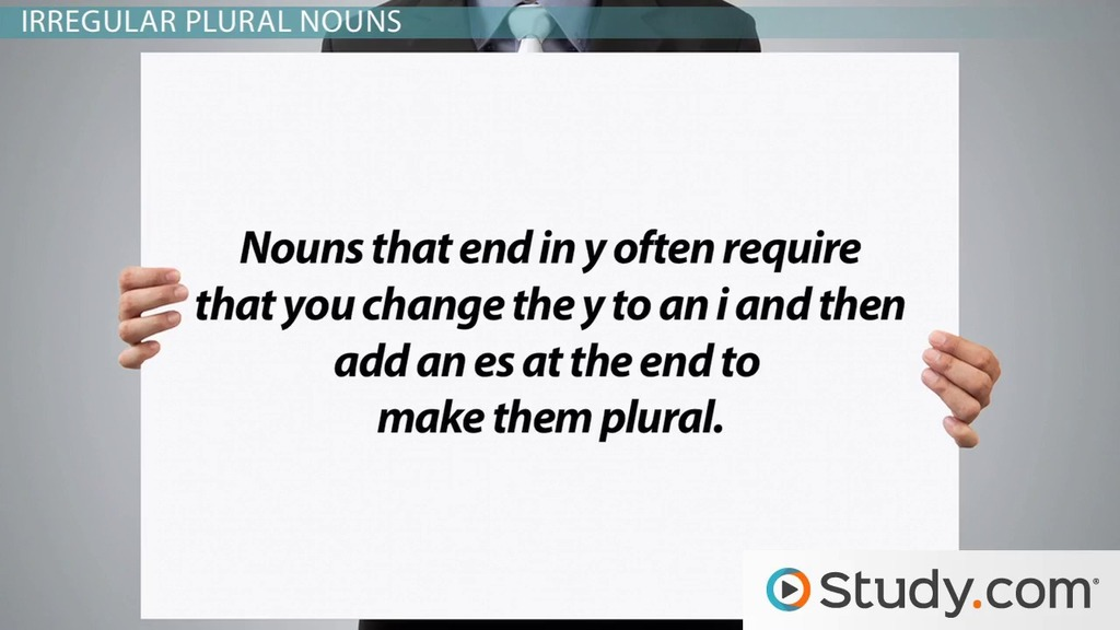 Singular & Plural Nouns Definitions Rules & Examples Video