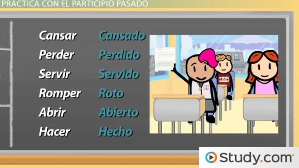 Spanish Grammar The Past Participle Video & Lesson