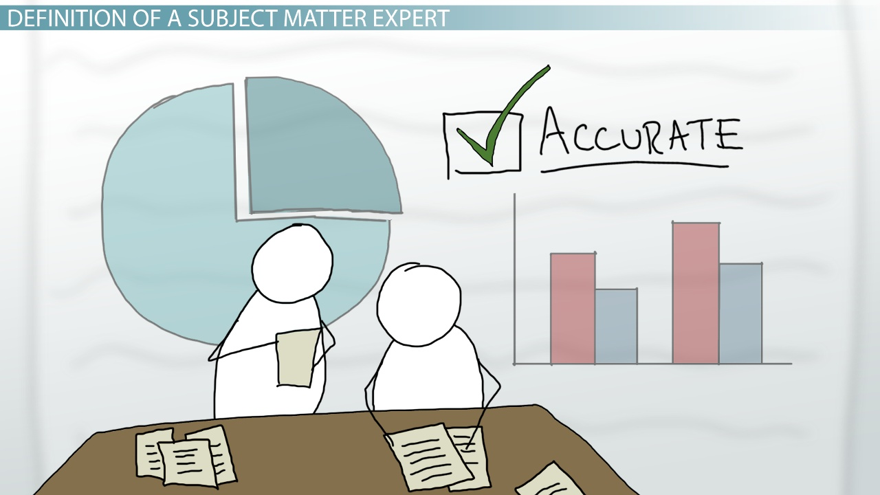 Subject Matter Expert Definition & Role Video & Lesson