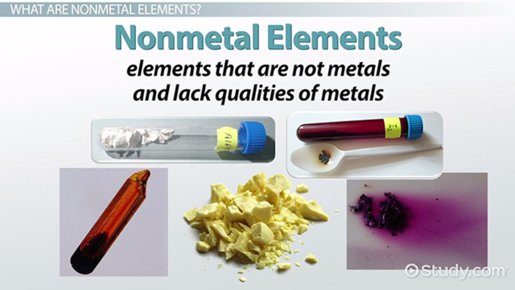 nonmetal elements on the
