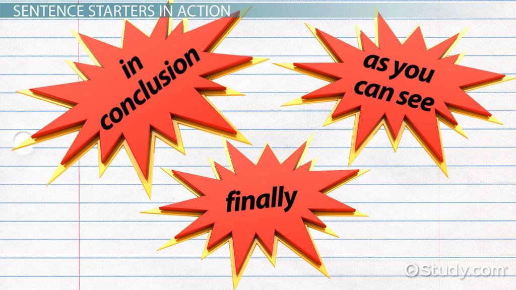 Conclusion Paragraph Starters Video & Lesson Transcript