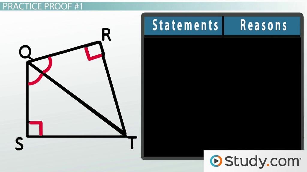 The Ha Hypotenuse Angle Theorem Proof Explanation